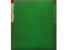 "Su Xiaobai, ""Compendiary Green,"" Oil, lacquer, linen and wood, 150 x 125 x 10 cm, 2012.