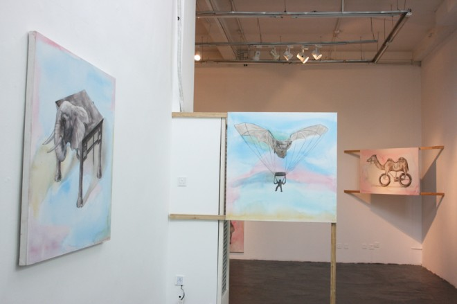 "Gao Mingyan, ""Exercises of Living"" exhibition scene, 2013, (courtesy Vanguard Gallery)"