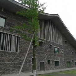 Xiangshan Campus, China Academy of Arts, Phase II, 2004-2007, Hangzhou, China, designed by Pritzker Prize winner, Wang Shu.杭州中国美术学院香山校园。