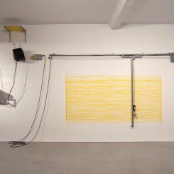 Simon Lee - AB_2012_Short Big Yellow Drawing Maching_Installation View 7_E