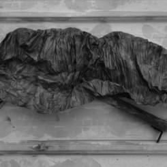 "Wu Chi Tsung,""Wrinkled Texture 005,"" 2012, 88 X 53cm. 吳季璁,《褶皱的纹理005》,2012,88 X 53cm."