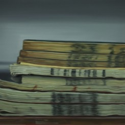 """Chinese Library No. 51"", oil on linen, 39 3/8 x 59 in,2012《 中国图书馆51号》,  油彩、亚麻布,100 x 150 cm,2012"