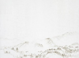 "JUN JUN HU,""Mountain – Rain Water,"" 2012, Oil on linen,60 x 79 inches; 153 x 200 cm
