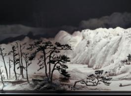 """Wang Qiang, """"Living in the Fuchun Mountains (detail),"""" 2011-2013, Installation,202 x 692 x 64 cm 王强,《富春山居图(局部)》,2011-2013,装置,202 x 692 x 64厘米"""