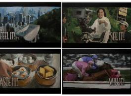 "Reproducing ""Hong Kong - Live it, Love it!"" (details), 重組「香 港 - 樂在此, 愛在此!」(局部), 2012, Acrylic on Canvas, Video, Dimension variable"