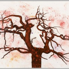 "Tony Bevan, ""Tree (no. 2) (PP1220),"" 2012, Acrylic and charcoal on paper, 85.7 x 121.9 cm; (33 3/4 x 48 in.)