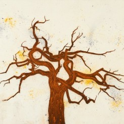 "Tony Bevan, ""Tree (PC1310),"" 2013, Acrylic and charcoal on canvas, 131.4 x 167 cm; (51 3/4 x 65 3/4 in.)