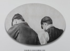 "Zhang Yunyao, "" The Back,"" 2013, charcoal on felt, 71× 100cm