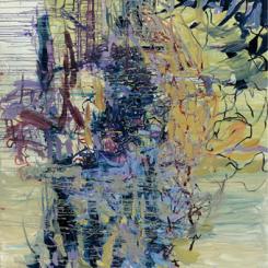 """Sun Juju, """"No. 1202,"""" 2012,  Acrylic on canvas,  200 x 180 cm 孙钧钧,《No.1202》,2012年,布面丙烯,200 x 180厘米"""