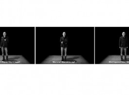 """Wang Guofeng, """"Between Me and the Truth,"""" 2013, Video, 8 minutes 王国锋,《在我和真实之间》,2013年,视频,8分钟"""