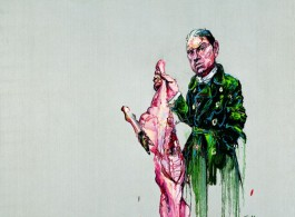 "Zeng Fanzhi, ""Bacon and Meat"", 200 x 200 cm, 2008曾梵志,""培根和肉"",200 x 200 cm, 2008"