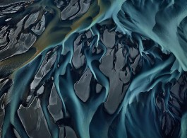 "Edward Burtynsky, ""Thjorsa River #1, Iceland,"" 2012, Chromogenic color print, 48 x 64 inches."