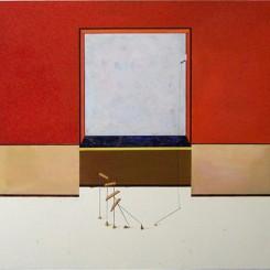 Qian Jiahua Left:Outside, 135cm×150cm, Acrylic on Canvas, 2012 Right:inside, 30cm×45cm, Acrylic on Canvas, 2012 钱佳华左图: 外头135cm×150cm,布面丙稀,2012 右图:里头,30cm×45cm, 布面丙稀,2012