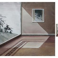 Liu Yujie,Go Hunting,Oil on Canvas,96cm×120cm, 22cm×20cm, 5.2cmx4.5cm,2013刘玉洁,出猎图,布面油画,96cm×120cm, 22cm×20cm, 5.2cmx4.5cm,2013