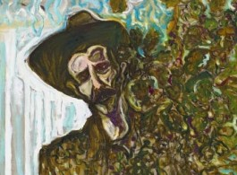 "Billy Childish, ""Edge of the Forest"",  oil and charcoal on linen, 60.04 x 48.03 inches, 152.5 x 122 cm, 2013, Courtesy the artist and Lehmann Maupin, New York and Hong Kong"