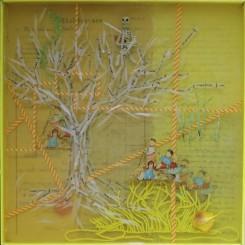 Monika Lin, 记忆的盒子4,收集物品,树脂,收集盒子,37 x 11.5 x 10cm, 2014,Monika Lin, Memory Boxes 4, found objects, resin, found box, 37 x 11.5 x 10cm, 2014