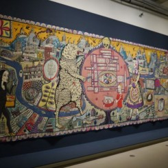 """Grayson Perry, """"Map of Truths and Beliefs"""", 2011格雷森•陪里,《真相与信仰之地图》,2011"""