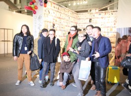 Doublefly group in front of the Space Station booth, Focus China, Armory NYC.双飞艺术中心在2014军械库展览空间站的展位合影