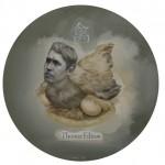 "Wang Buke, ""Thomas Edison"", oil on canvas, diameter 40 cm, 2013王不可,《爱迪生》,布面油画,直径40cm,2013"