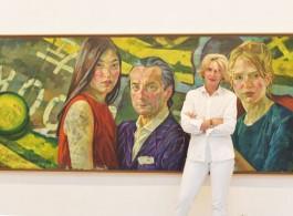 """""""Bond"""" by Xenia Hausner奧地利女畫家候絲娜及作品《連結》"""
