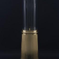 "James Lee Byars, ""The Conscience"", gilded wood, glass cupola, globe, 1985詹姆斯•李•拜尔斯,《良心》, 鎏金木、玻璃圆罩、球体,1985"