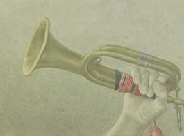 "Liu Chuanhong, ""Memoir in Southern Anhui, Act II, Scene 6, Hexian 6"", oil on canvas, 43 x 28 cm, 2012–2014刘传宏,《皖南记事,第二幕第六场,和县6》,布面油画 ,43 × 28cm,2012-2014"