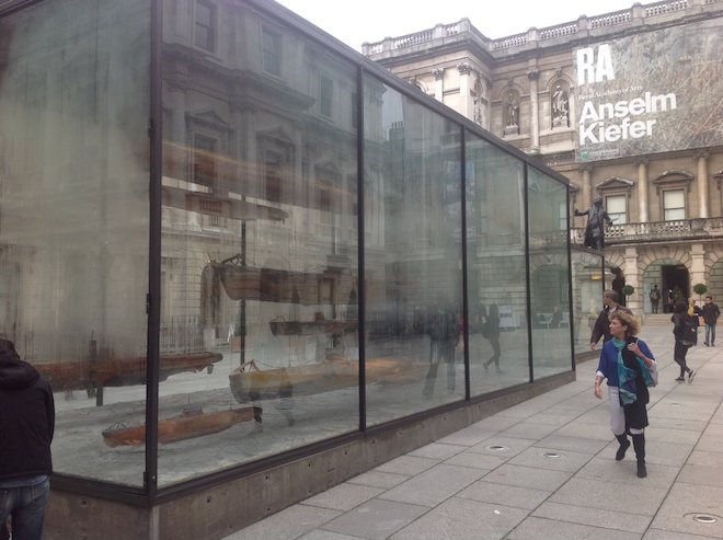 Anselm Kiefer at The Royal Academy—one of the best retrospectives of 2014, including dramatic contrasts with the grand halls of the academy.