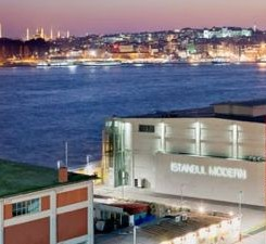 Istanbul Museum of Modern Art (founded in 2004 by the Eczacıbaşı family, with the idea first conceived by Dr. Nejat F. Eczacıbaşı). The surrounding warehouses have hosted the Istanbul Biennial.