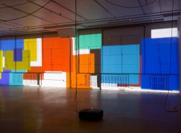 "Paul Chan, ""Sade for Sade's sake"", digital color projection, 5 hours, 45 min, 2009. Installation view: Greene Naftali, New York, 2009. Courtesy the artist and Greene Naftali, New York. Photo: Gil Blank."
