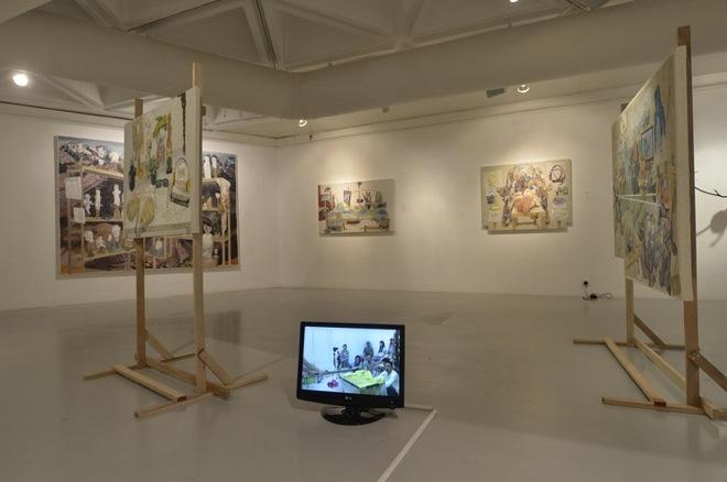 Documentation of Show the Process of Making Self-portrait 2014.5.31, Work by Masaya Chiba, 2014