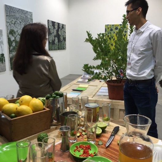 Yiri Arts booth, featuring Huang Po-Chih's works