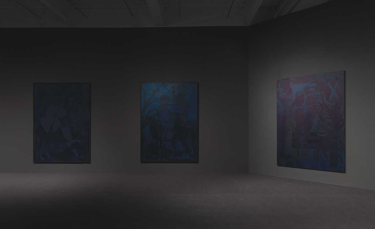 """Chris Ofili: Night and Day"", third floor installation view at the New Museum. Photo by Maris Hutchinson/EPW.  All artworks © Chris Ofili. Courtesy David Zwirner, New York/London."