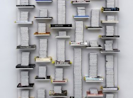 Job Koelewijn, Relief 25 march 2009 - 6 jan 2012, 2012, cassette tapes, 774 hours, 140 x 200 x 30 cm.jpg