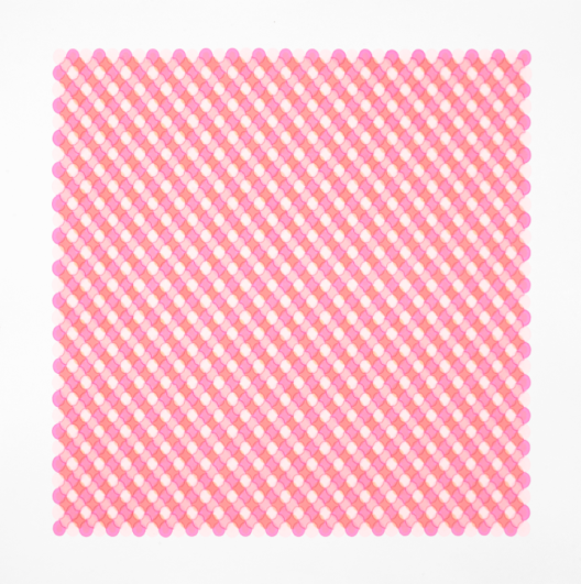 Peach Pink Four Color Water Ripple 6 (80 x 80 cm)