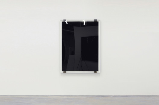 Oil Painting; Oil Painting, 2012, 160 x 120 x 6 cm, Recycle Engine Oil, Perspex (Courtesy of Artist and Encounter Contemporary)