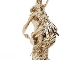 2013, polished bronze unvarnished, 28 x 30 x 72 cm