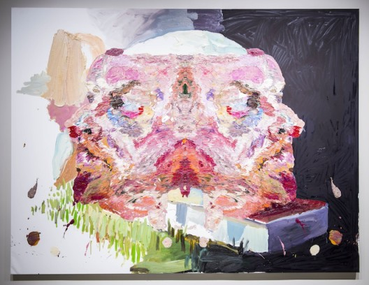 """Ben Quilty, """"Andre at Jim Morrison's grave"""", oil on linen, 202 x 265 cm, 2014. Photo by Mike Pickles / studioEAST."""