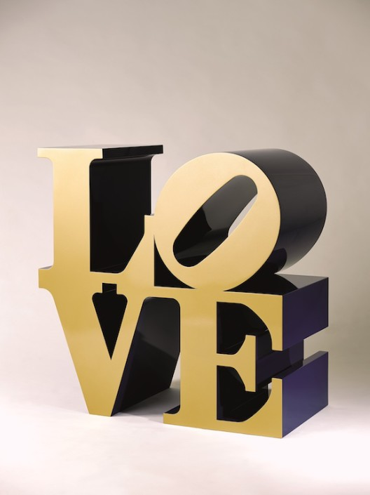 Lot 拍品编号 35 ROBERT INDIANA 罗伯特•印第安纳 (American, B. 1928) Love (Gold/Blue) 《LOVE (金/蓝色)》 polychrome aluminum on steel base 彩绘 铝 91.3 x 91.3 x 45.7 cm. (36 x 36 x 18 in.) This work is number five from an edition of six plus four artist's proofs. 版数:编号5(共六版及四个艺术家校本) Conceived in 1966 and executed in 2002 1966 年构思;2002 年作 HK$ 4,000,000- 5,000,000  US$  512,800-  641,000 ©2015 Morgan Art Foundation/Artists Rights Society (ARS), NY.