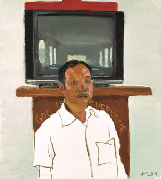 Lot 拍品编号 38 LIU  XIAODONG 刘小东 (Chinese, B. 1963) The Son 《儿子》 oil on canvas 100 x 90 cm. (39 3/8 x 35 3/8 in.) Painted in 2009, 2009 年作 HK$  700,000- 1,200,000 US$   89,700- 153,800