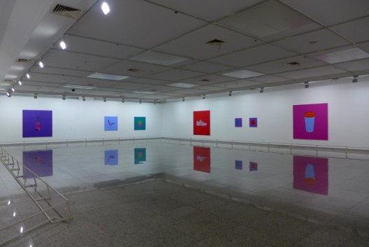 Exhibition view, Hubei Art Museum (courtesy Michael Craig-Martin)展览场景,湖北美术馆