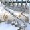 "Huang Yng Ping, ""Baton de Serpent"", (installation view), aluminium, stainless steel, dimensions variable (length: 53 meters). Courtesy of the artist and the Red Brick Art Museum, Beijing黄永砅,《巴蛇》(现场局部),铝,不锈钢,尺寸可变(长53米)。图片惠允:艺术家与北京红砖美术馆"