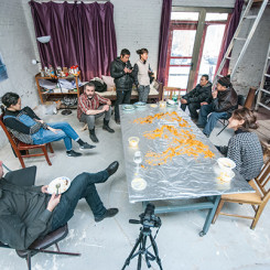 "Jagrut Raval, ""Consuming the World,"" documentation of performance on 2 February 2015, Beijing."