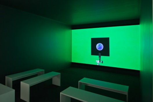 "Hito Steyerl, installation view. ""HOW NOT TO BE SEEN A Fucking Didactic Educational.Mov File (2013)"". installation. HD video 00:14:00. Copyright Hito Steyerl, courtesy Wilfried Lentz Rotterdam. Photo Credit: Richard Stringer."