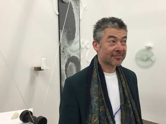 Artist Honoré δ'O at Kristof De Clercq gallery (Ghent)—unpronounceable name but the most fun and beguiling booth.