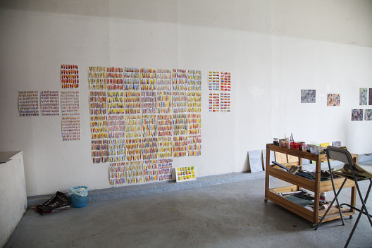 A studio at Red Gate Residency, Beijing