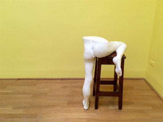 Sarah Lucas's smoking asses at the British Pavilion