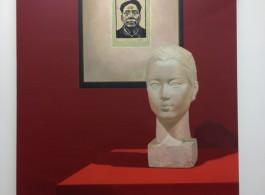Liu Ding, Wang Shikuo in 1942 and Wang Zhaowen in 1951, oil on canvas, 180 x 250 cm, 2015