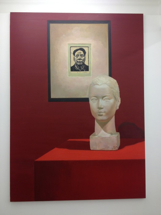 Liu Ding, Wang Shikuo in 1942 and Wang Zhaowen in 1951, oil on canvas, 180 x 250 cm, 2015