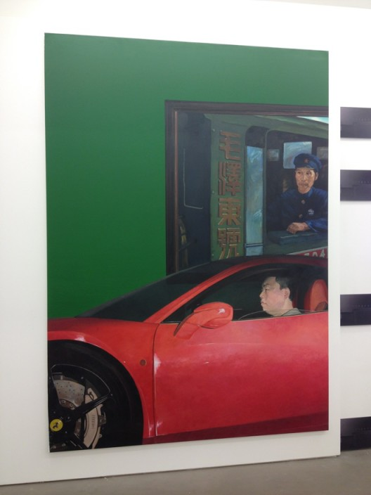 Liu Ding, New Man, oil on canvas, 180 x 250 cm, 2015
