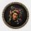 """Yinka Shonibare, """"Medusa North"""", digital chromogenic print, diameter, framed, 113.98 cm, 2015."""